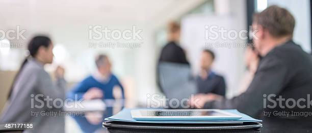 Defocused People At Business Meeting Stock Photo - Download Image Now