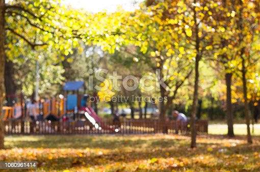 926151996istockphoto Defocused playground with children and parents in park 1060961414