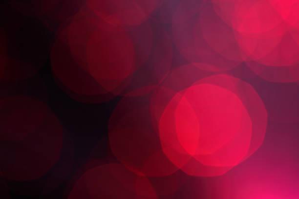 Defocused red light dots stock photo