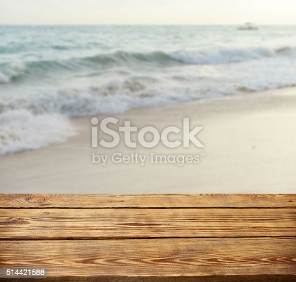 825992650 istock photo defocused sea and wooden background 514421588