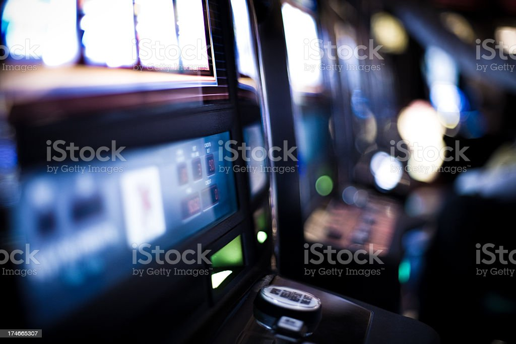 Defocused Slot Machines stock photo