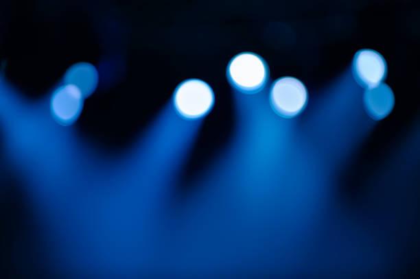Defocused stage illumination stock photo