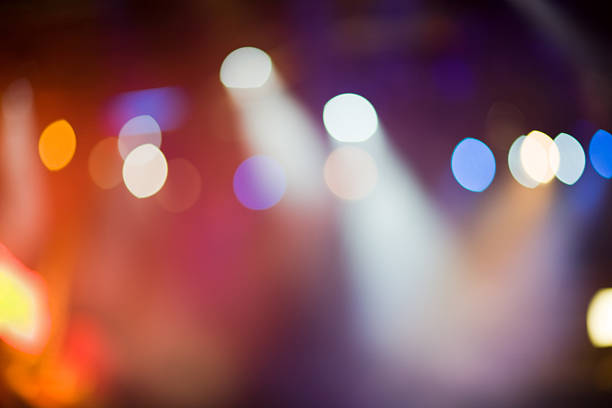 Defocused Stage Lights Defocused stage lights, perfect for background. stage light stock pictures, royalty-free photos & images