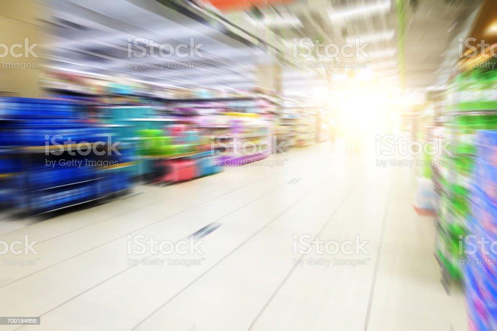 defocused store stock photo