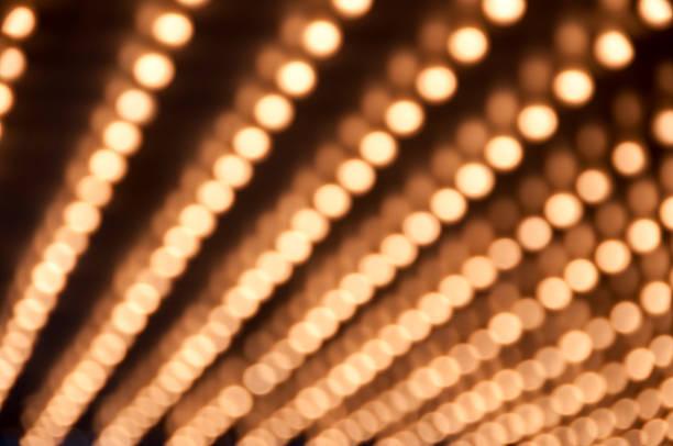 Defocused Theater Marquee lights stock photo