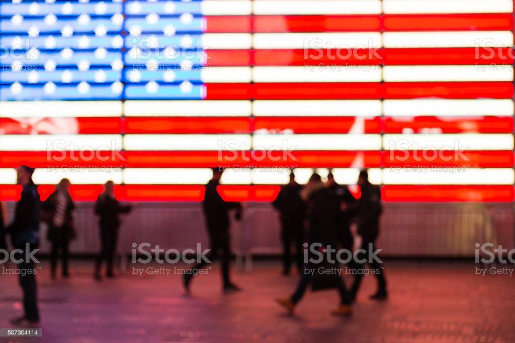 Defocused Times Square stock photo