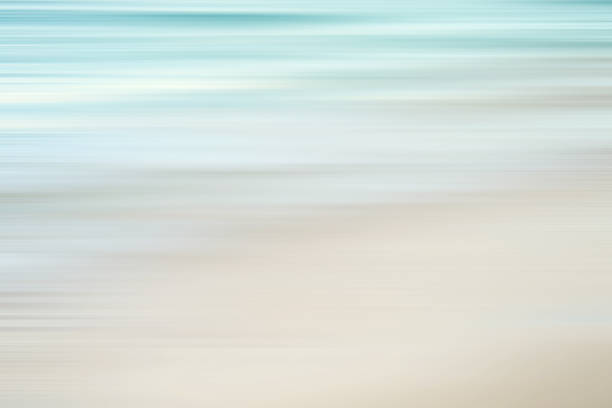 defocused tropical sea and beach stock photo
