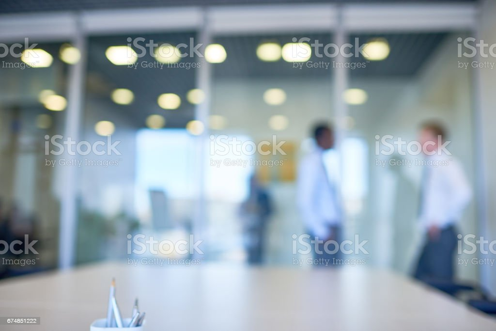 Defocused workplace stock photo