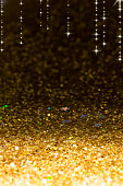 Defocused yellow lights background