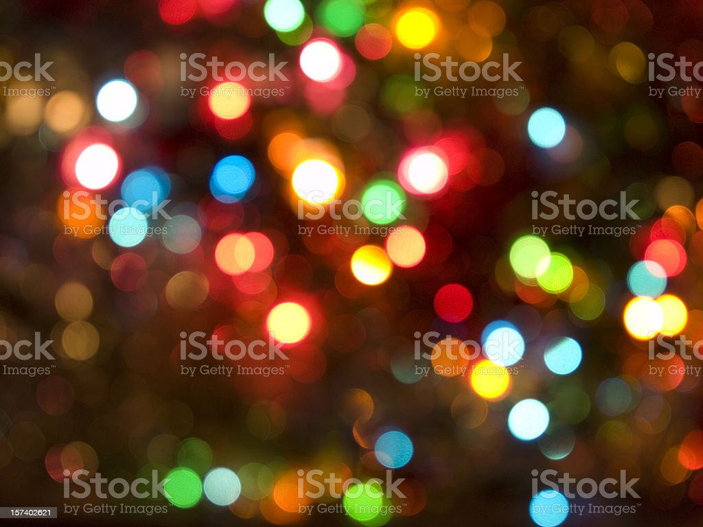 Defocussed Christmas Lights royalty-free stock photo