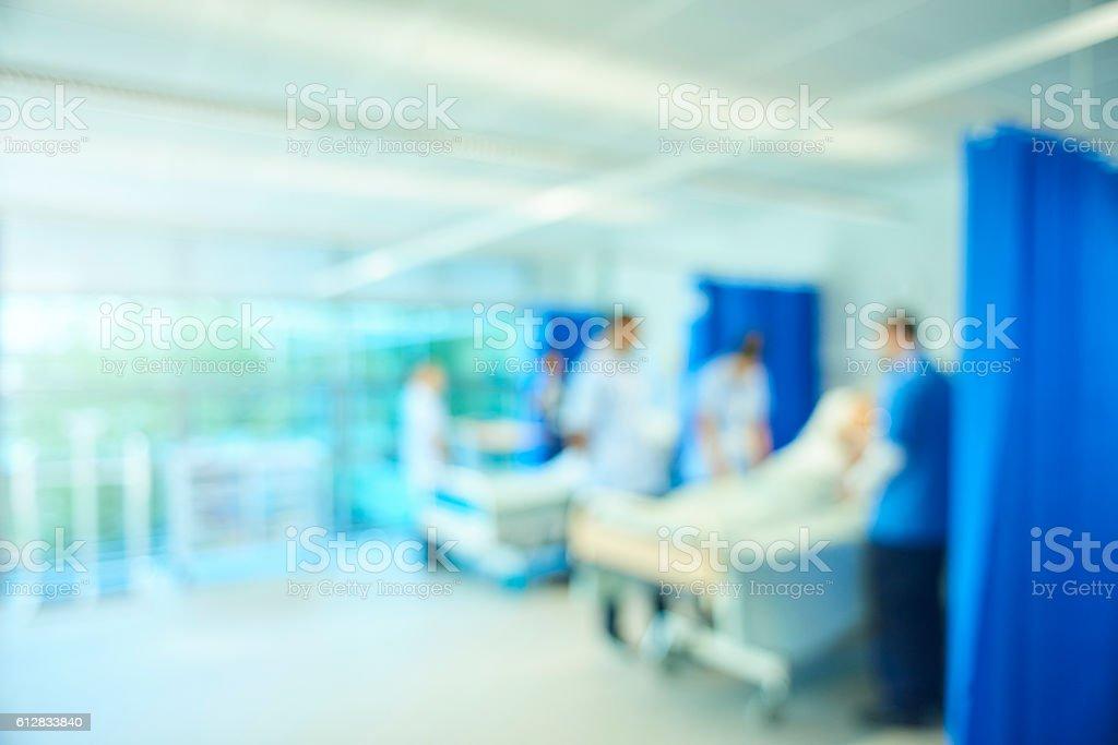 defocussed hospital ward background stock photo