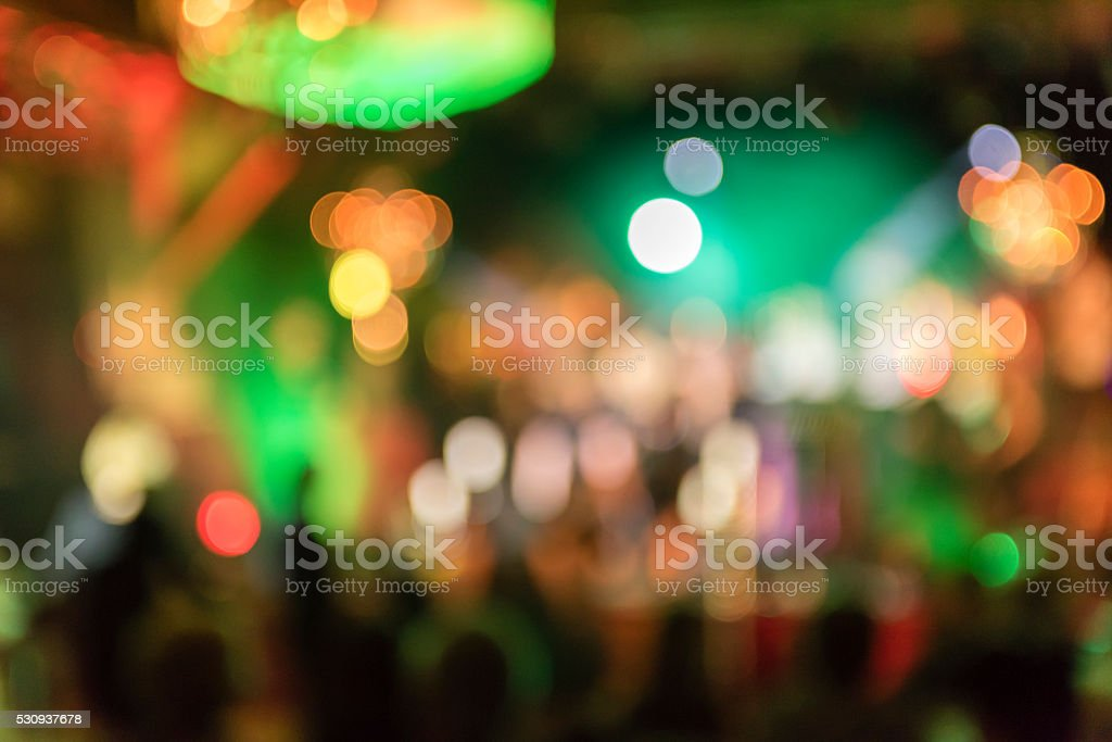 Defocussed Lights of stage stock photo