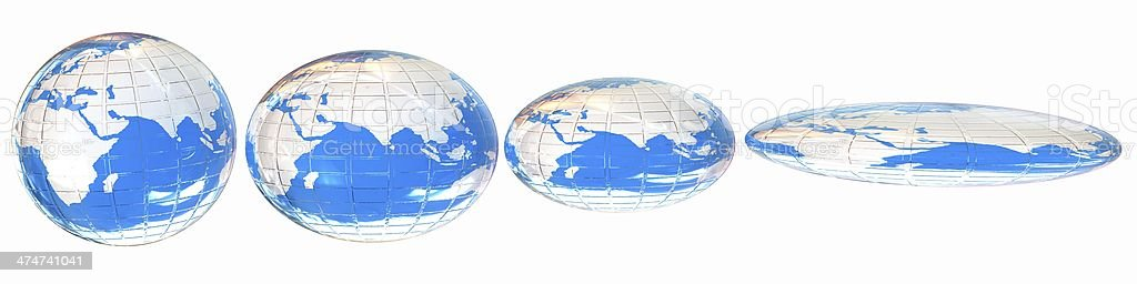 Deformed earth.Concept of degradation royalty-free stock photo