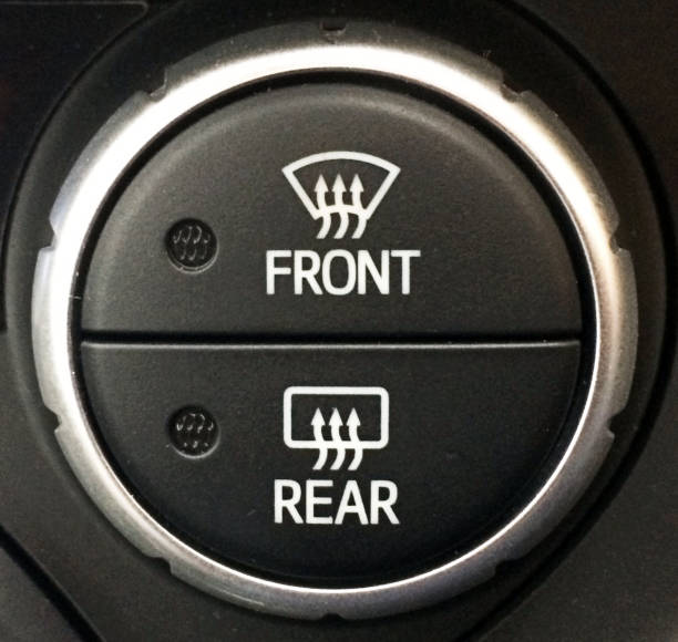 defrost switch for hybrid car, automobile industry - defrost stock pictures, royalty-free photos & images