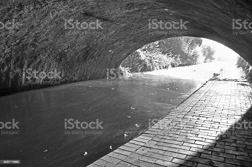 Defrosting Canal stock photo