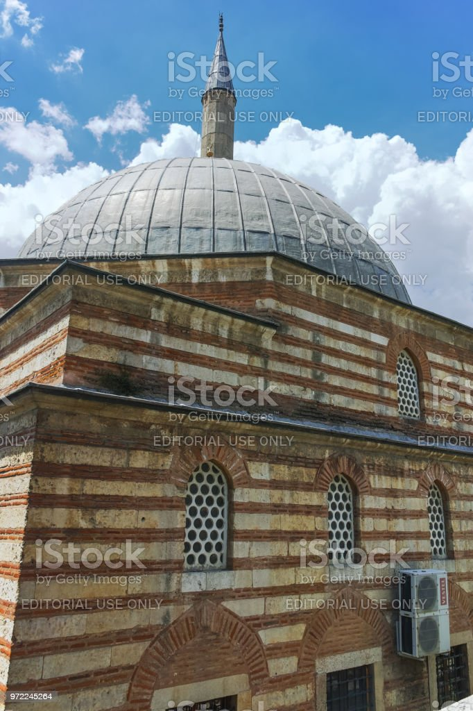 Defterdar Mustafa Pasha Mosque in city of Edirne,  East Thrace, Turkey stock photo