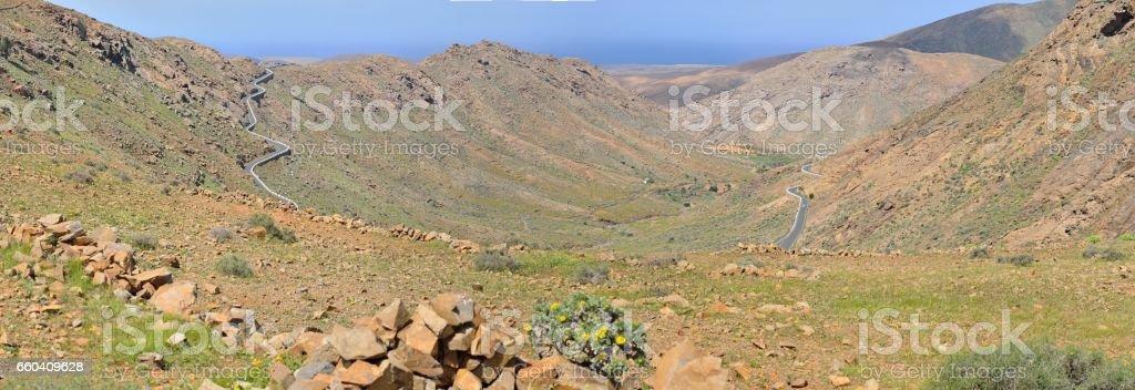 Degollada de los Grenadillos (Fuerteventura) stock photo