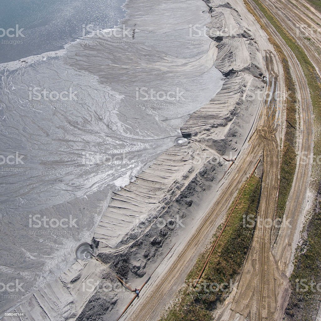 Degraded landscape minerals mine in south of Poland. royalty-free stock photo