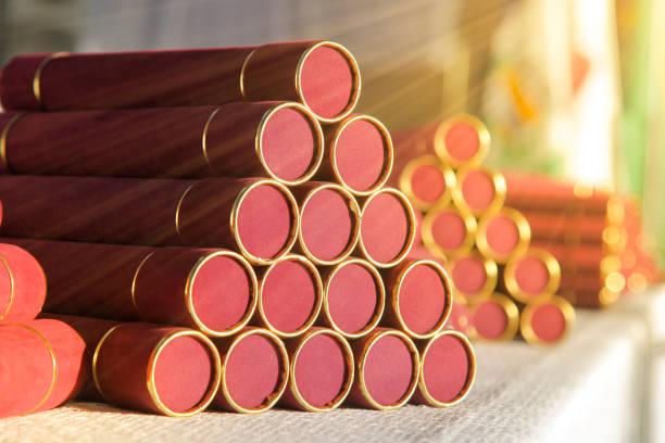 Degree collation straw - diploma - happy graduate stock photo