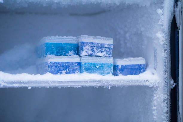 -frige 80 grados en el laboratorio - foto de stock