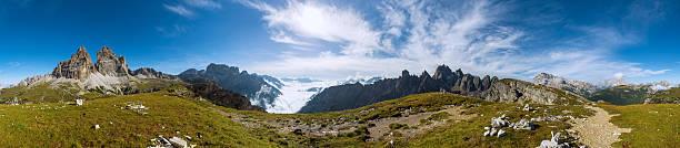 360 degree panorama shot of Dolomits stock photo