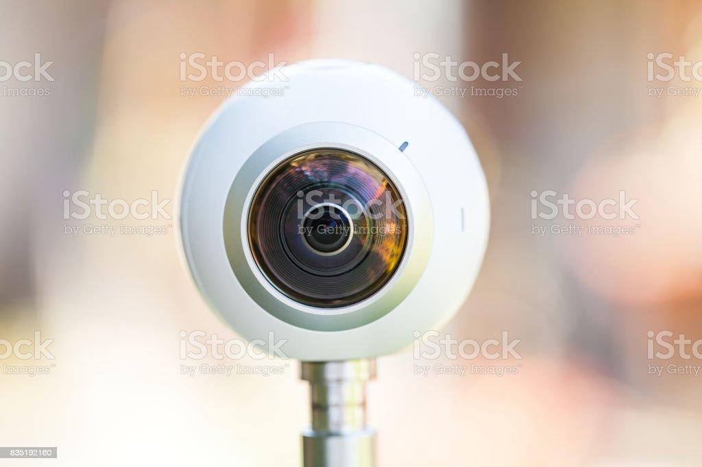 360 degree panoramic virtual tour camera stock photo