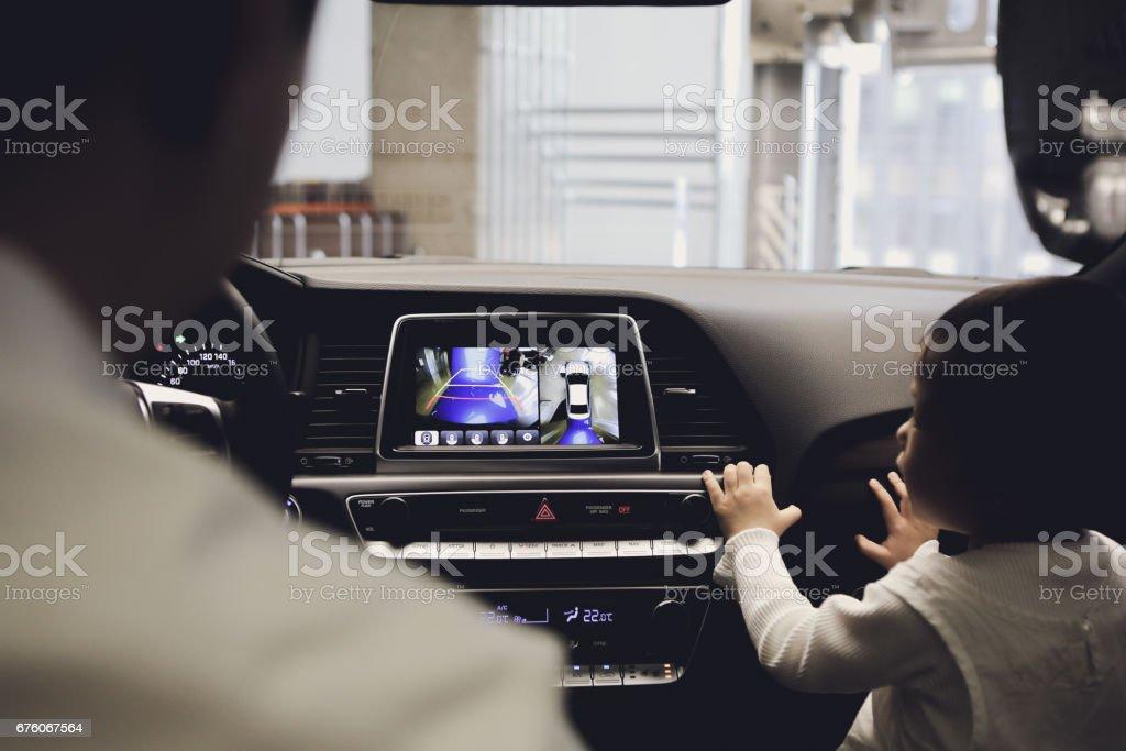 360 degree parking stock photo