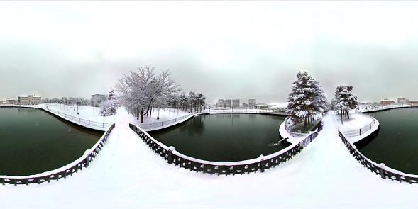 istock 360 degree view of bridge on the public park 1124363959