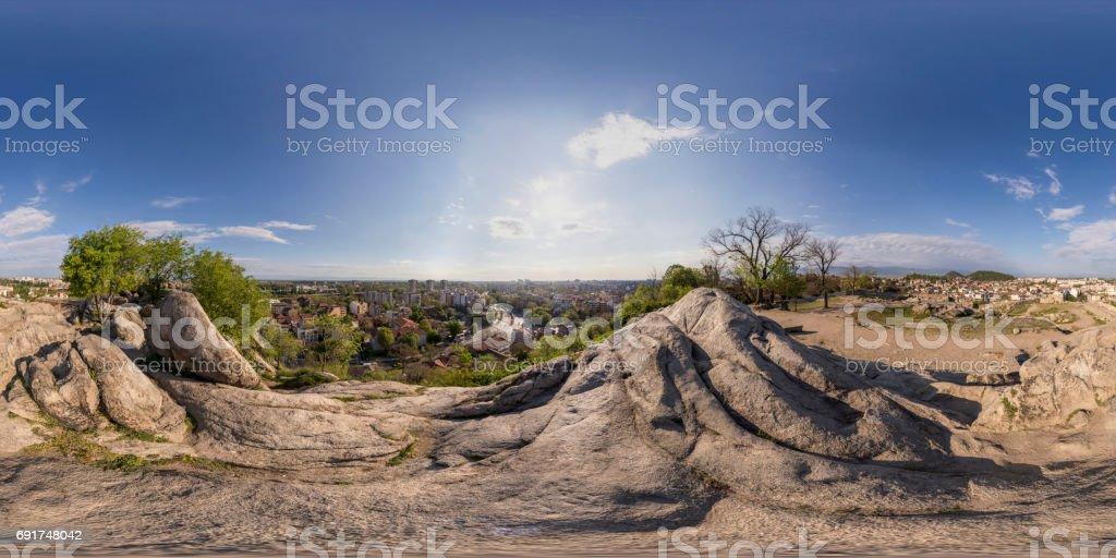panorama de 360 degrés de Nebet tepe à Plovdiv, Bulgarie - Photo