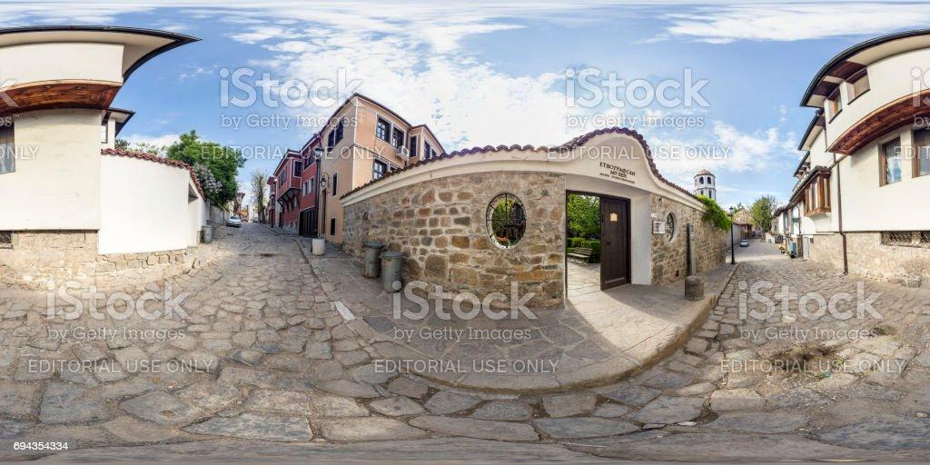 panorama de 360 degrés du Musée ethnographique à Plovdiv, Bulgarie - Photo