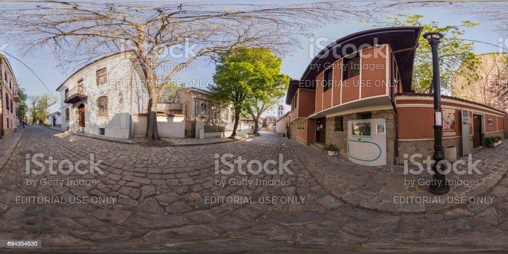 panorama de 360 degrés de la Galerie d'Art à Plovdiv, Bulgarie - Photo