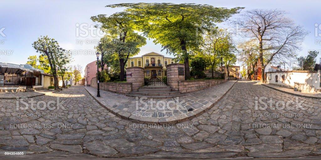 panorama de 360 degrés de la maison-musée Zlatu Boyadjiev à Plovdiv, Bulgarie - Photo