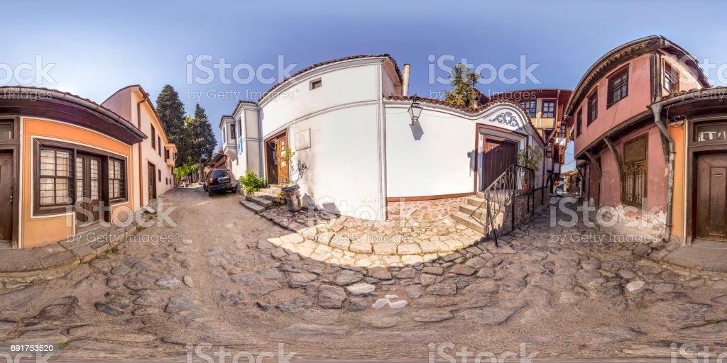 panorama de 360 degrés de la vieille ville de Plovdiv, Bulgarie - Photo