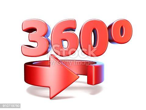 istock 360 degrees view horizontal arrow 3D 910719750