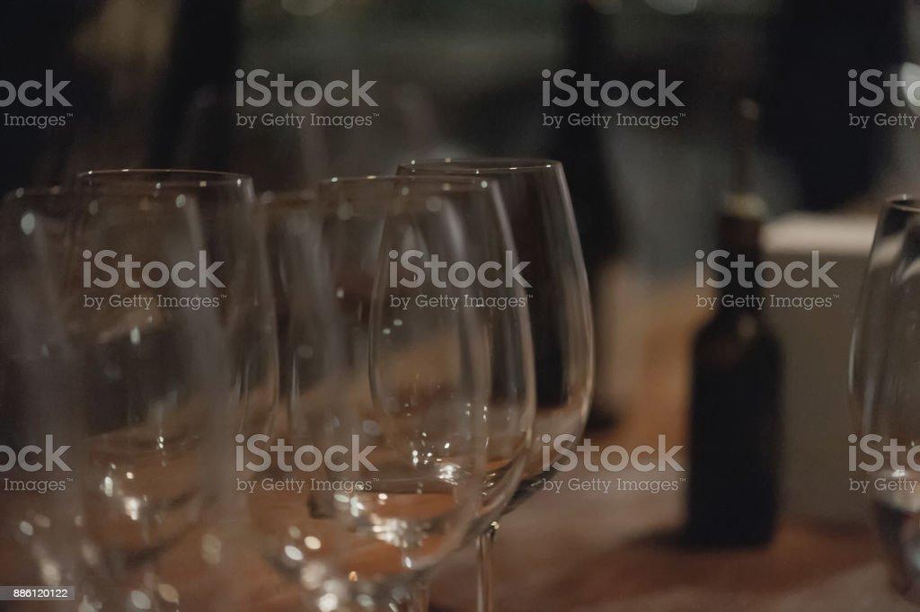 Degustation in Kvareli wine tunnel stock photo