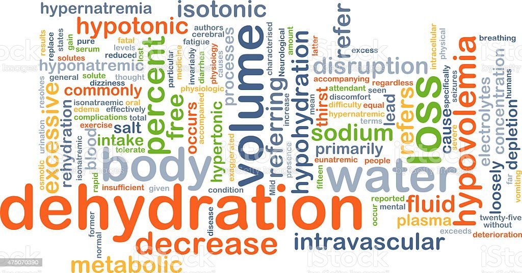 Dehydration background concept stock photo