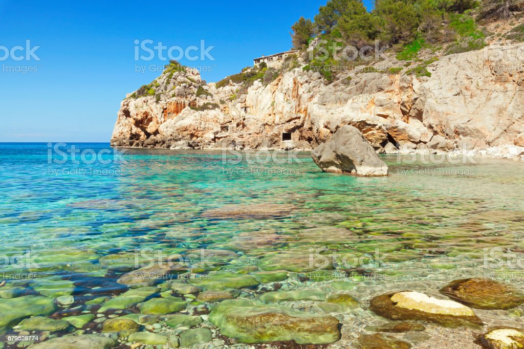 Deia beach Majorca Mallorca Spain royalty-free stock photo