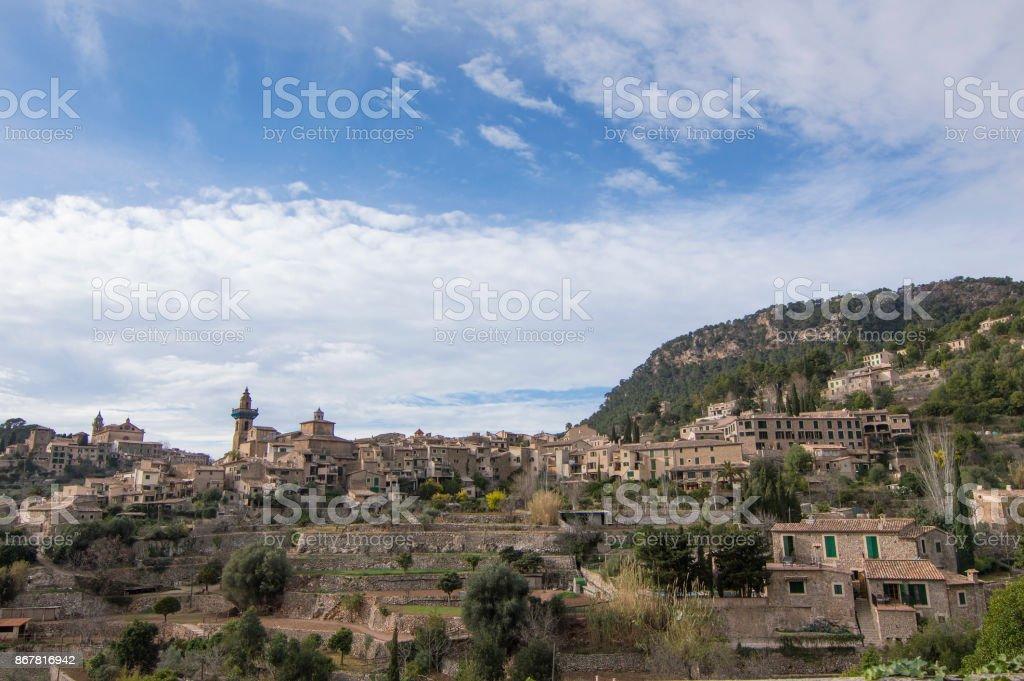 Deia, beautiful mountain village in Mallorca stock photo