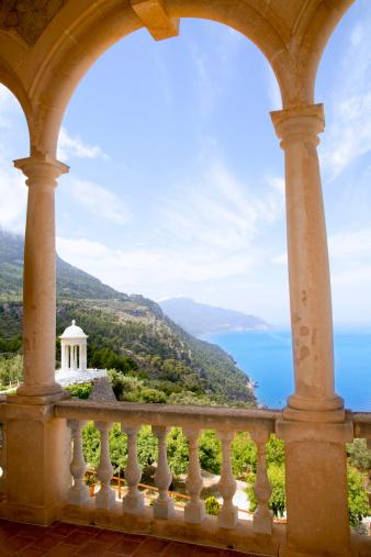 Deia mirador des Galliner at  Son Marroig palace Mallorca in Balearic islands