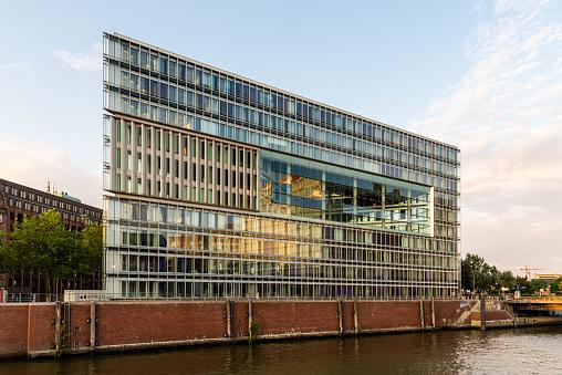 Deichtor Office Building in the port of Hamburg