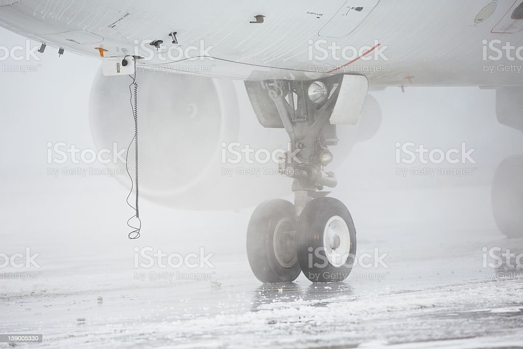 De-icing royalty-free stock photo