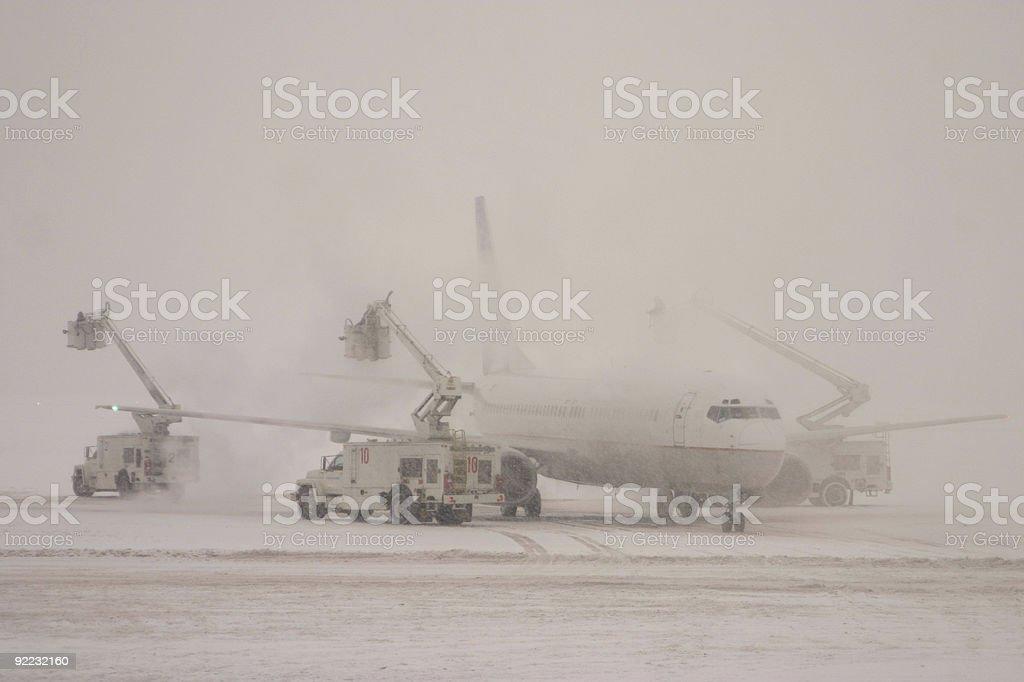 Deicing plane royalty-free stock photo