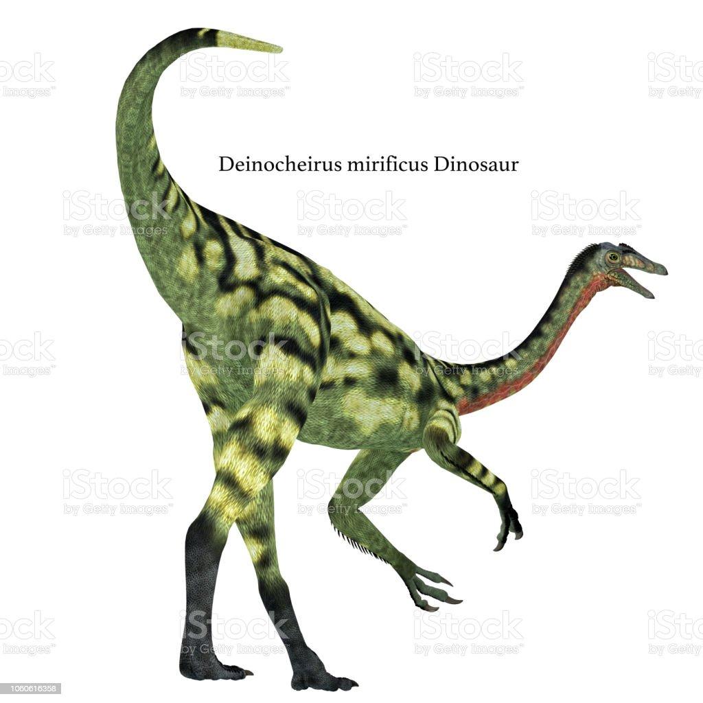 Deinocheirus Dinosaur Tail with Font stock photo