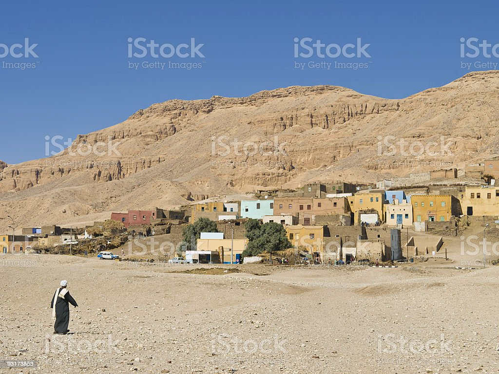 Deir al Medina stock photo