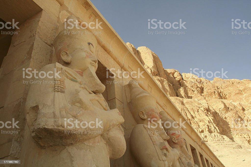 Deir El-Bahari, Luxor, Egypt. stock photo