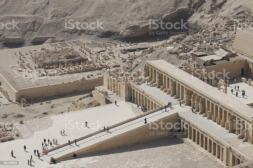Deir El-Bahari, Luxor, Egypt, Thebes royalty-free stock photo