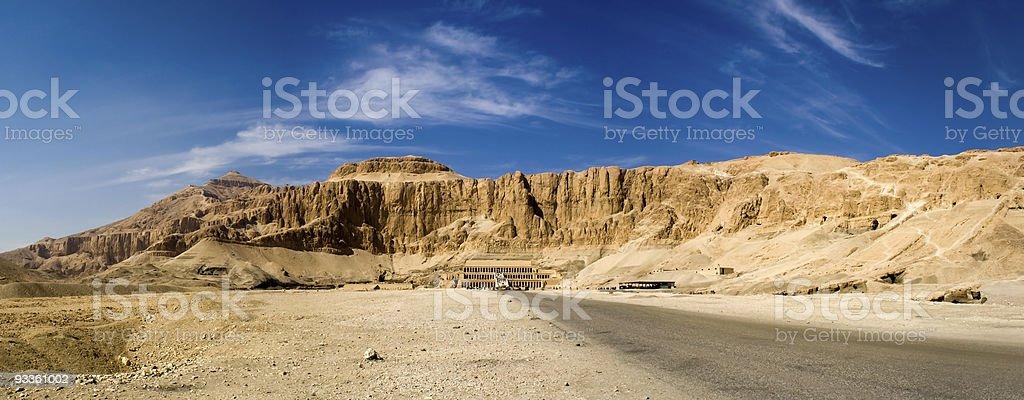 Deir el-Bahri royalty-free stock photo