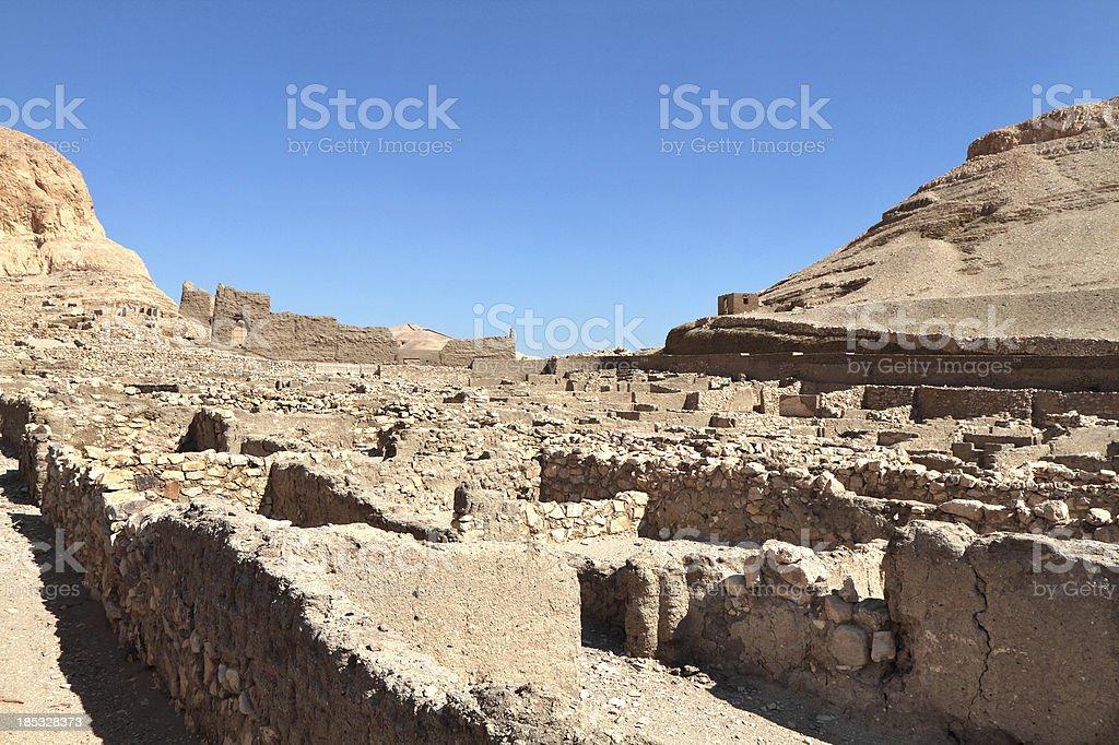 Deir el-Medina, Theban Necropolis, Luxor, Egypt stock photo