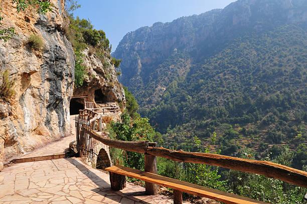 monastère deir qannoubin de qadisha valley, liban - liban photos et images de collection
