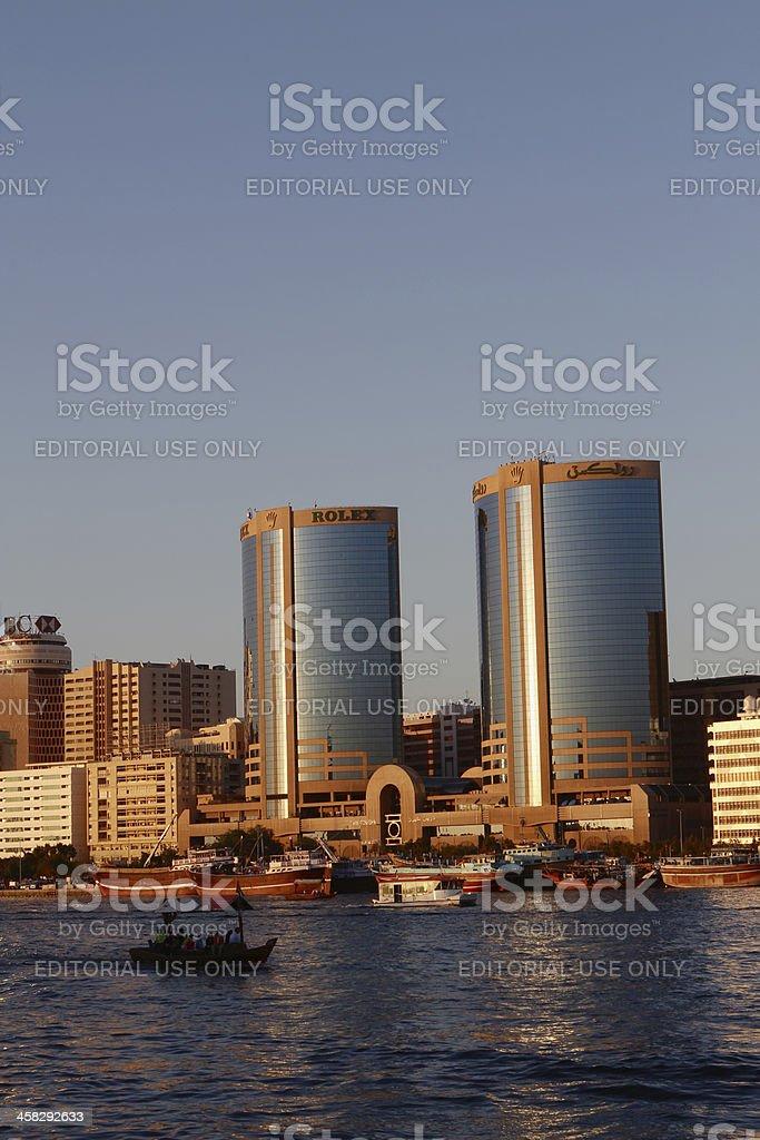 Deira Twin Towers in Dubai stock photo